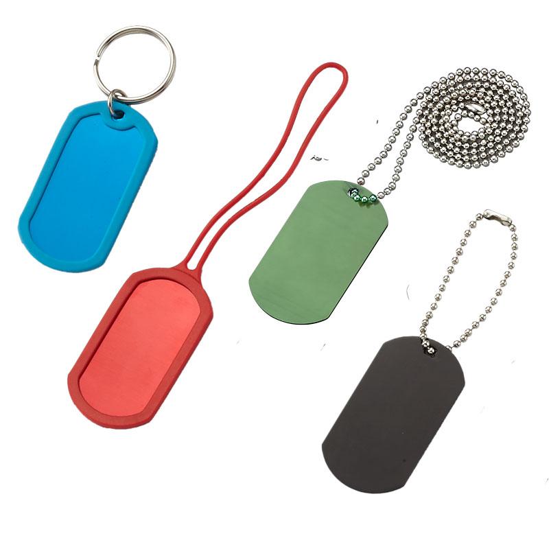 Aluminium dogtag keychain