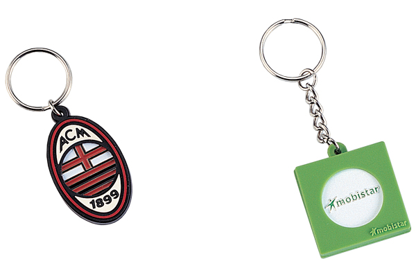 Rubber trolley tokens keychain
