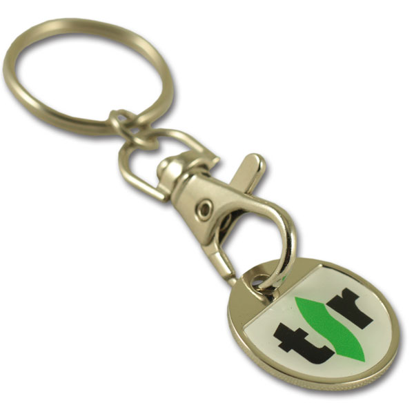 ICKC iron coin keychain with thin doming
