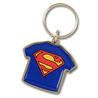 Metal keychain with doming