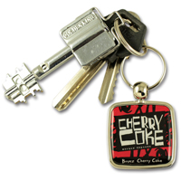 Zamac doming keychain