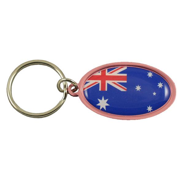 Oval aluminium keychain