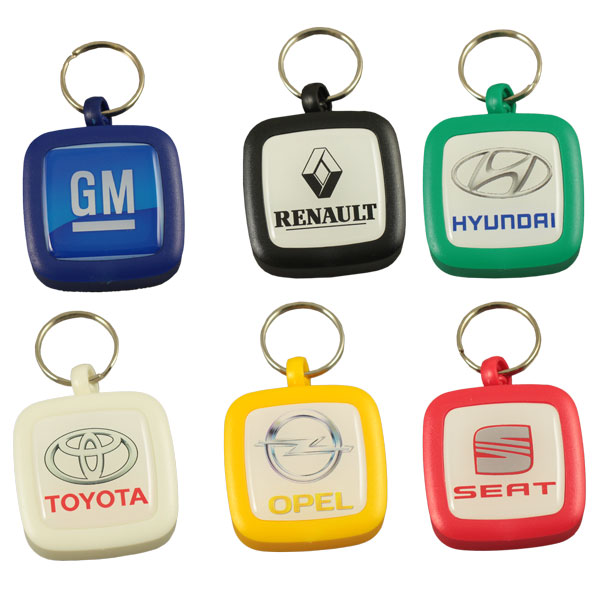 Pocket plastic ashtray/pillbox keychain