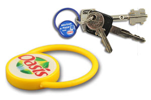 Plastic loop keychain #PSR205 QCS Asia w18.17