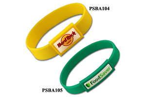 Silicon wristband with plastic patch #PSBA by QCS Asia by QCS Asia w37.16
