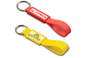 Silicon keychain with plastic patch #PSKC by QCS Asia w38.16