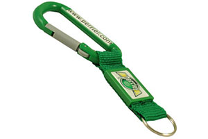 Plastic carabiner 80mm with patch #PTM04 by QCS Asia W5.17