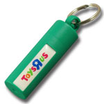 Plastic canister & everyday use container keychain #PCA19 QCS Asia w22.17