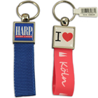 Zamac top with webbing strap and doming keychain #ZST by QCS Asia W3.16