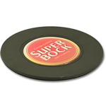Plastic bottle coaster with doming and EVA anti-grip #PBC w47.16