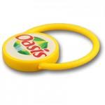 Plastic loop keychain #PSR205 by QCS Asia W7.16