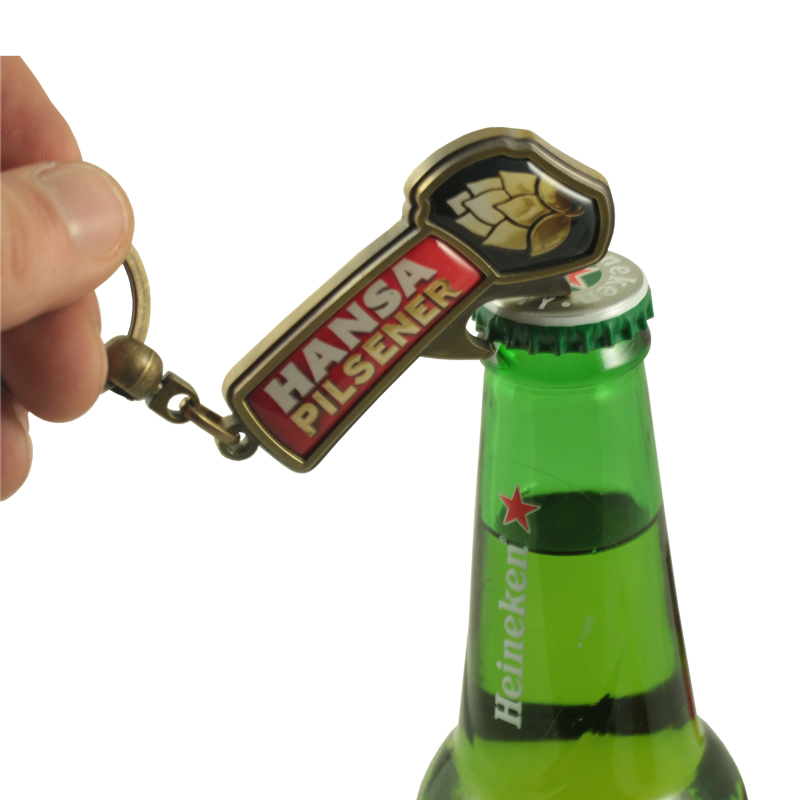 Metal bottle and cork opener