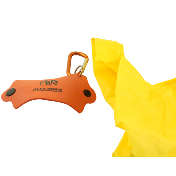 Rubber shopping bag holder keychain