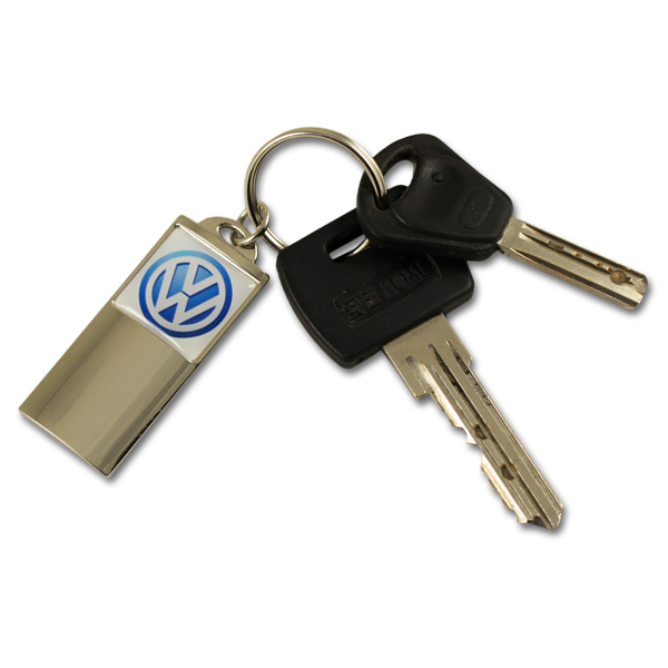 Metal dealership and garage totem keychain