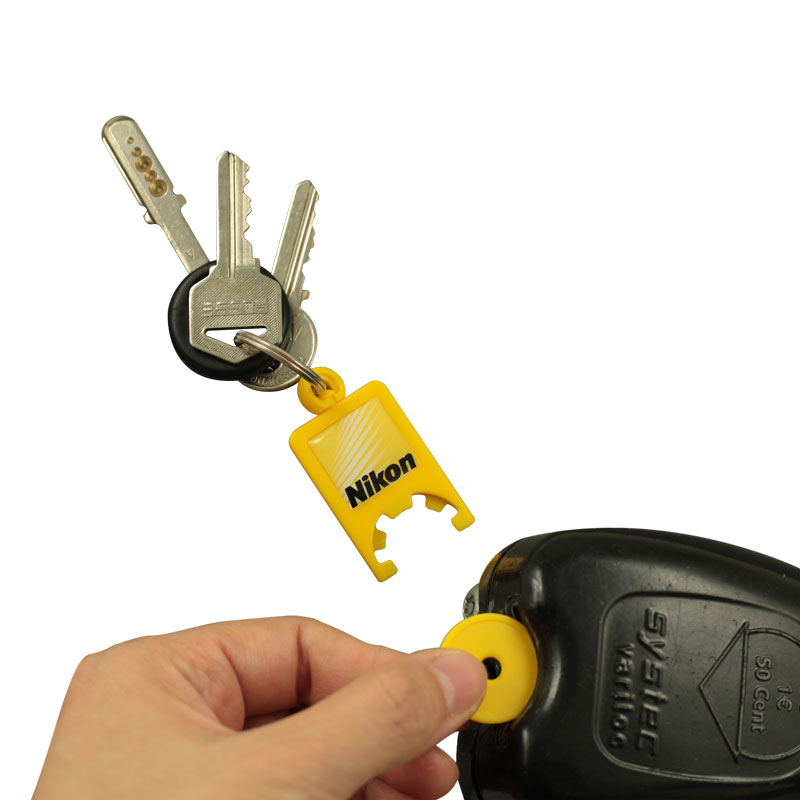 Plastic token holder keychain