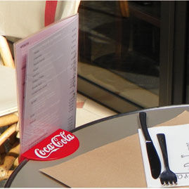 Table menu holder