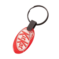 Oval double side doming keychain