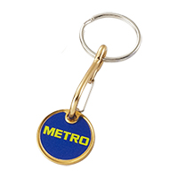 Aluminium trolley tokens keychain