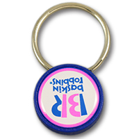Plastic keychain tag with magnet