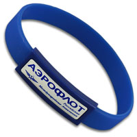 Silicon wristband with thin  plastic patch