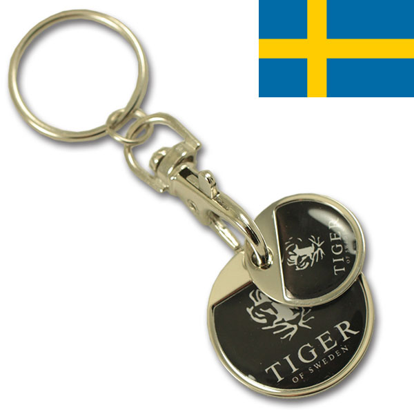 SEK 5.00 + SEK 10.00 iron coin set keychain with thin doming