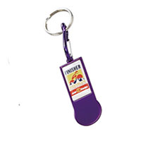 Rectangle aluminium trolley tokens keychain