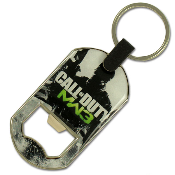 Zamac dogtag bottle opener with full surface doming