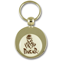 Round zamac doming keychain