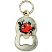 "Zamac ""8"" shape bottle opener keychain with full surface doming"