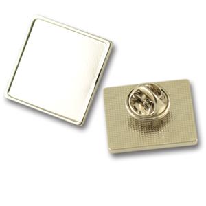 Square metal lapel pins