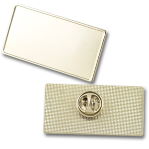 Large rectangle metal lapel pins