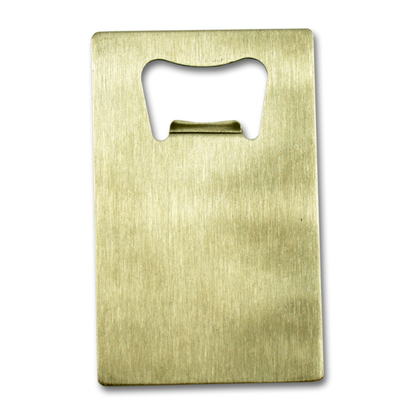 Credit card shape stainless steel speed bottle opener