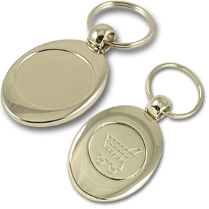 Zamac coin holder keychain