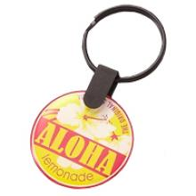 Round double side doming keychain