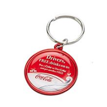 Large round aluminium keychain 31mm doming