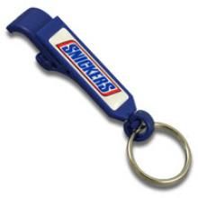 Bottle and can opener plastic keychain