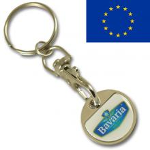 EURO 0.50 iron coin keychain with thin doming