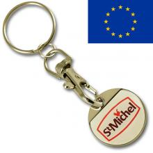 EUR2.00 iron coin keychain with thin doming
