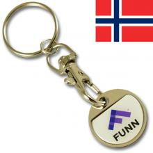 NOK 10.00 iron coin keychain with thin doming