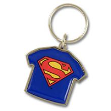 Metal tee shirt shape keychain