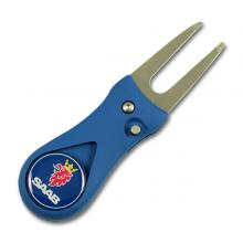 Golf divot tool with ball marker