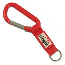 Plastic carabiner 80mm with patch